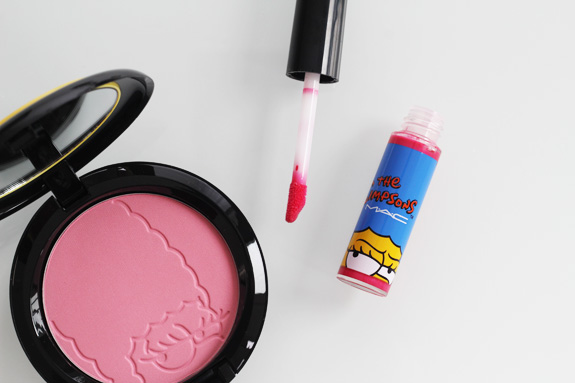MAC_the_simpsons_marge_pink_sprinkless_blush_red_blazer_lipglass13
