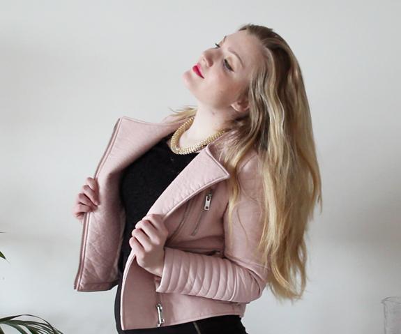 veracamilla.nl | New in: babyroze nep leren Zara jasje