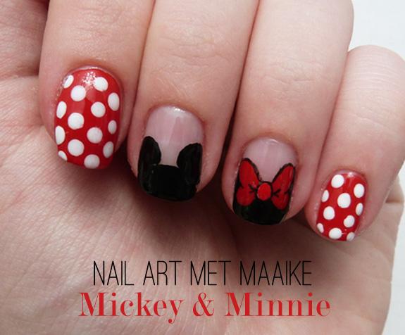 Veracamilla Nail Art Met Maaike Mickey En Minnie